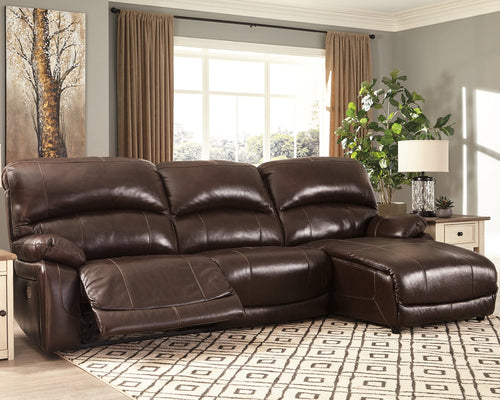 Hallstrung Signature Design by Ashley 3-Piece Power Reclining Sectional image