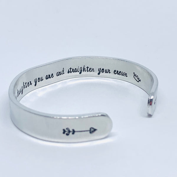 Whenever you feel overwhelmed ... - Hand Stamped Cuff Bracelet