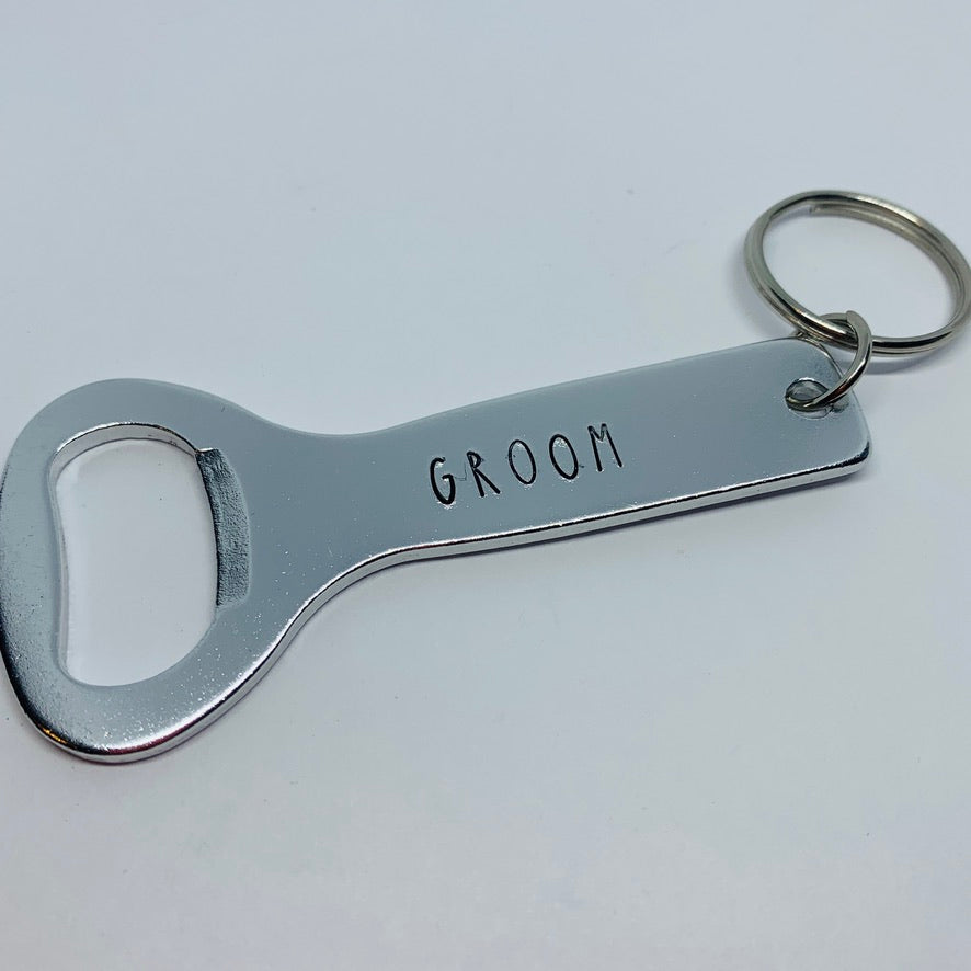 Groom - Hand Stamped Bottle Opener