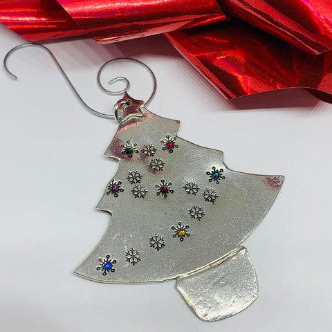 Swarovski Lights - Hand Stamped Ornament