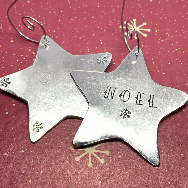 NOEL - Hand Stamped Ornament
