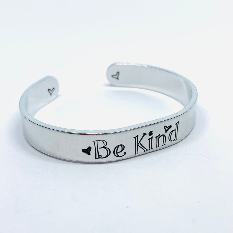 Be Kind - Hand Stamped Cuff Bracelet