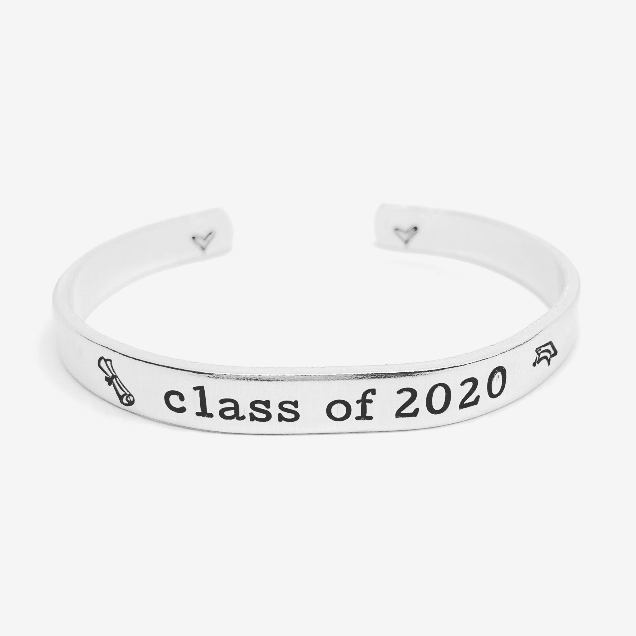 Class of 2020 - Hand Stamped Cuff Bracelet