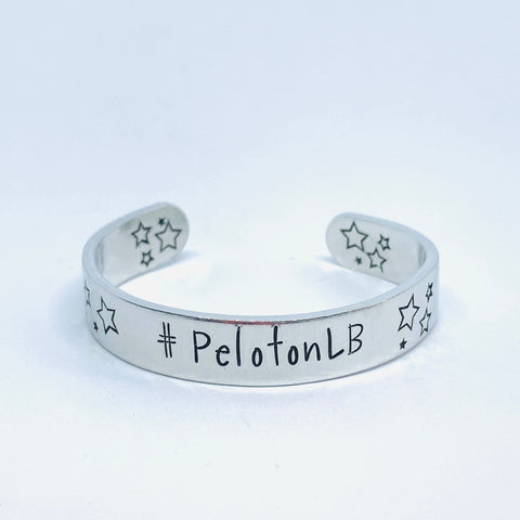 Peloton Inspired Leaderboard Handle - Hand Stamped Cuff Bracelet - Personalize Me!