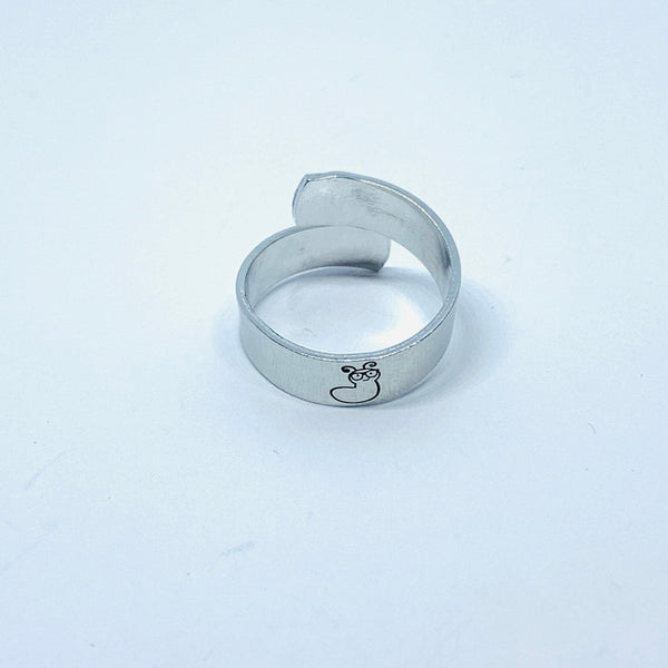 Bookworms - Hand Stamped 18g Aluminum Wrap Ring