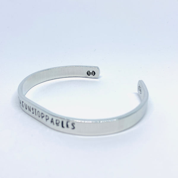 Peloton PELOTHON 2020 #TheUnstoppables Team - Hand Stamped Cuff Bracelet