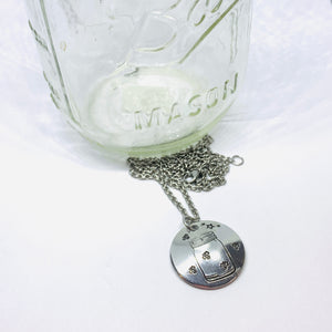 Fireflies in a Jar - Hand Stamped Necklace