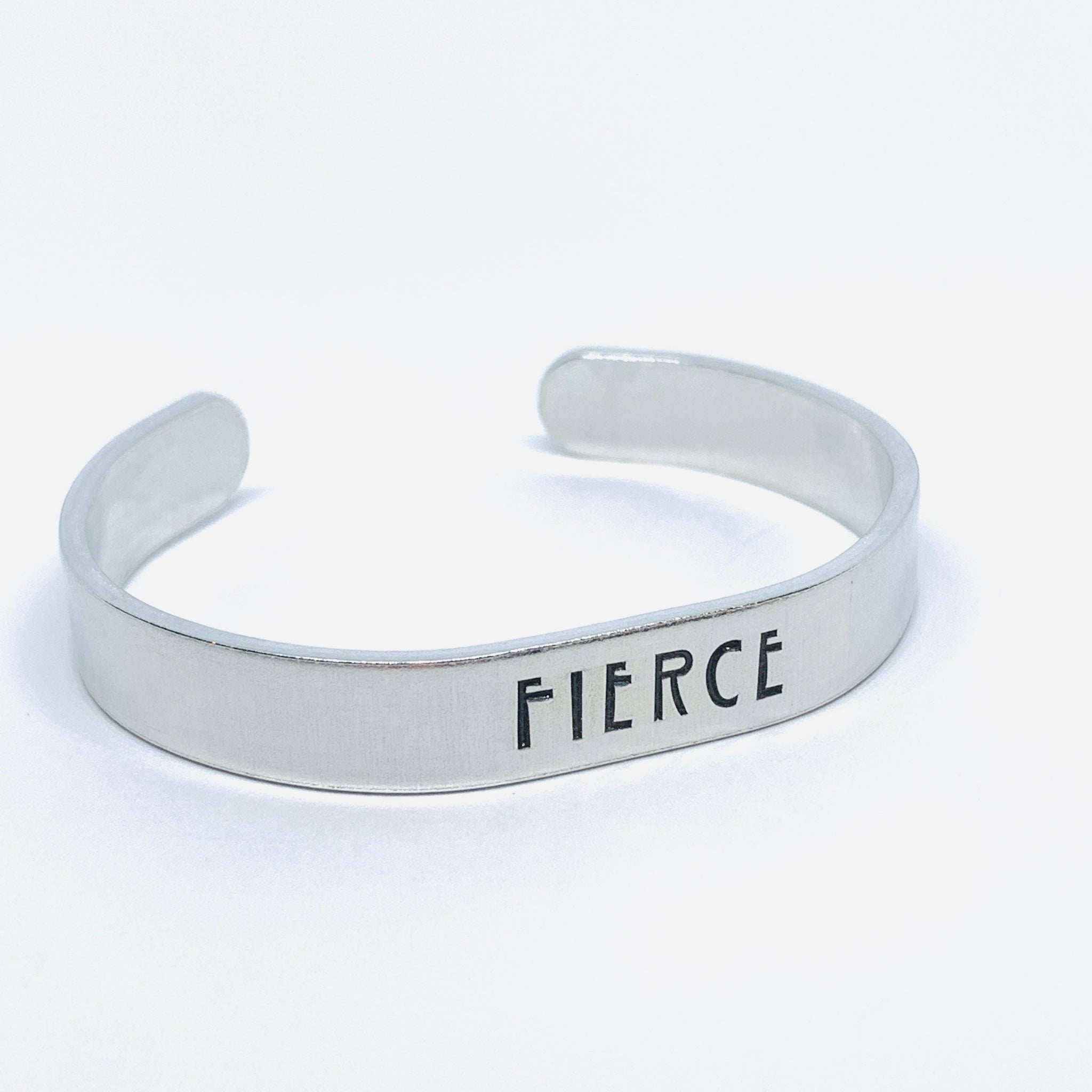 FIERCE - Hand Stamped Cuff Bracelet