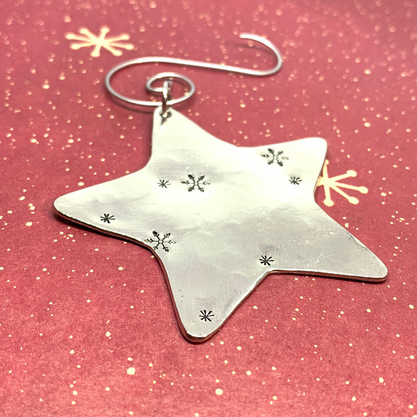 F*CK 2020 - Hand Stamped Ornament | Pewter Star Ornament | Pandemic 2020 Christmas Ornament | Hand Crafted Pewter Ornament | Holiday Ornament | Christmas Tree Decoration | COVID Ornament | Pandemic Ornament