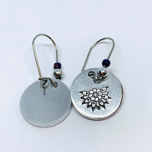 Intricate Mandala - Hand Stamped Earrings
