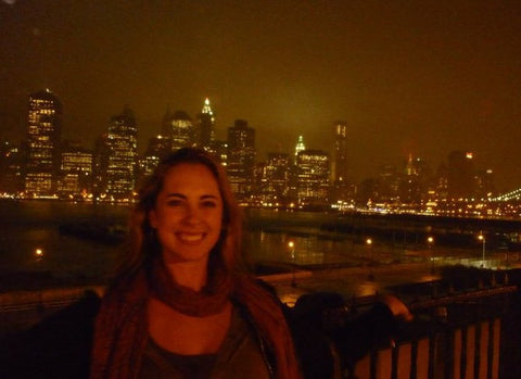 The view of Manhattan from Brooklyn. My first week living in New York.