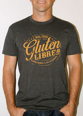 """Gluten Libre"" Dark Grey tee (Mens)"