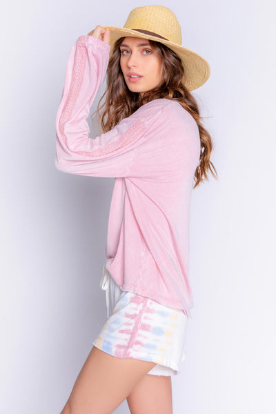 Sunset Hues Pink Long Sleeve Top