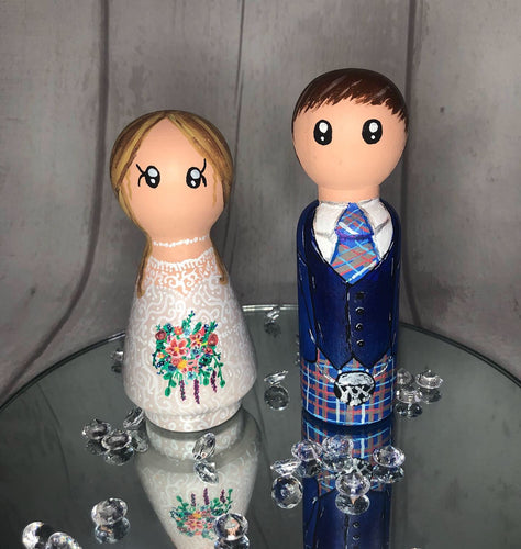 Peg Doll Cake Toppers