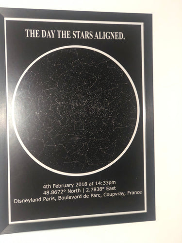 Personalised Constellation Star Map