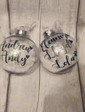 Load image into Gallery viewer, Personalised Christmas Bauble