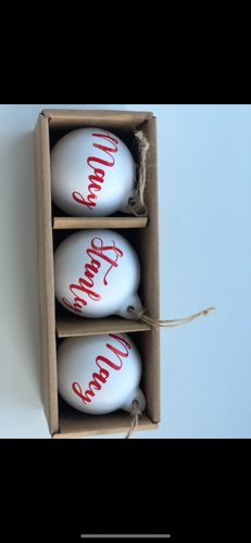 Ceramic Personalised Bauble