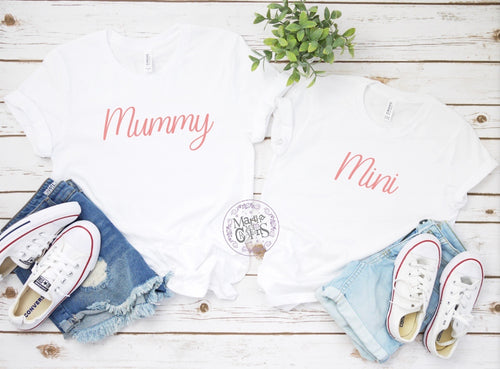 Mum and mini t-shirt set
