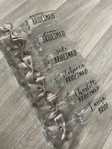 Personalised Toasting Glass