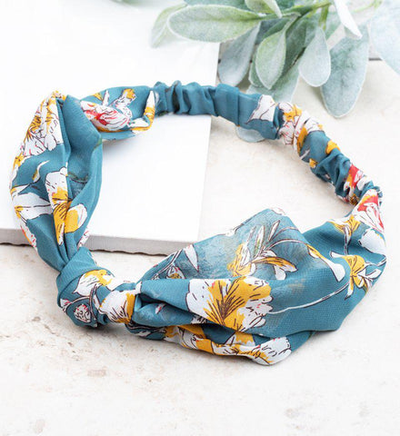Teal Petal to the Metal Headband
