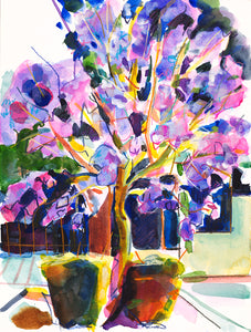 Tibazi Fine Art -Jacaranda in the city