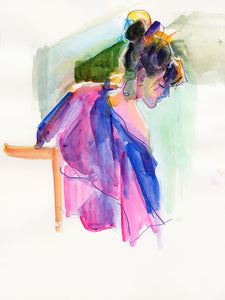 'Girl in Purple Robe'