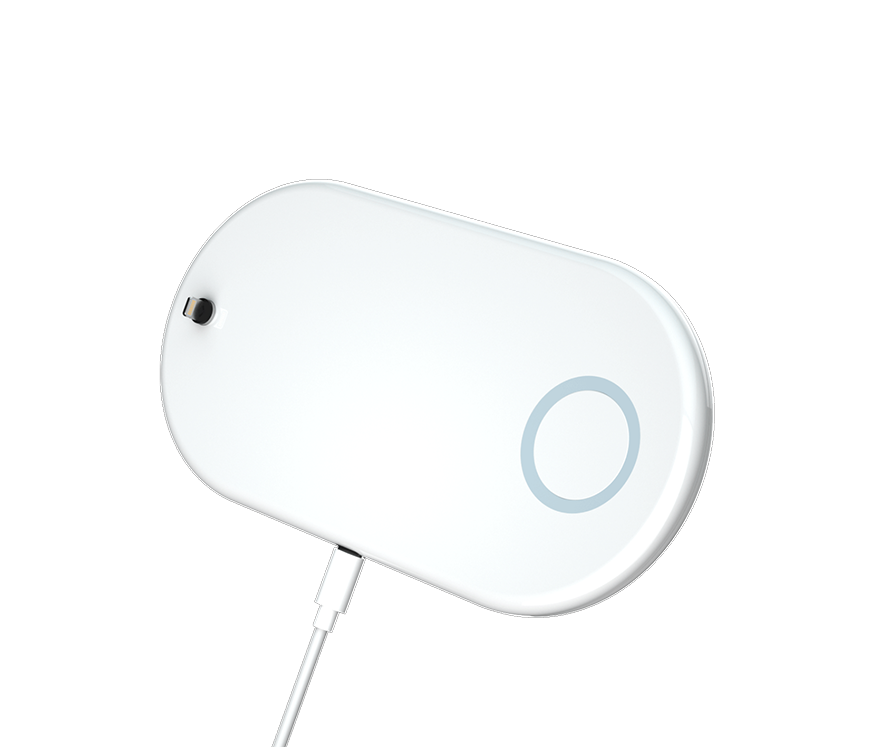 Vissles 3-in-1 wireless charging pad, charge your iPhone, Airpods and iWatch at the same time.