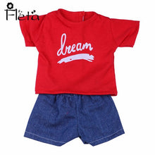 Load image into Gallery viewer, Doll Set = T-Shirt + Jeans Handsome Clothes Accessories Fit 18 Inch American&43 CM Born Baby,Girl's  Birthday Toys,Generation