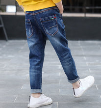 Load image into Gallery viewer, IENENS Kids Boys Jeans  Fashion Clothes  Classic Pants Denim Clothing Children Baby Boy Casual Bowboy Long Trousers  5-13Y