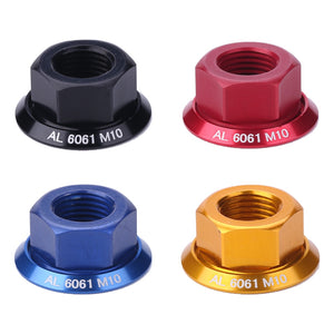1pc Bicycle Drum Hub Nuts M10 Fixed Gear MTB Road Folding Bike Screw Bolt  Anti-skid Texture Firm Mount