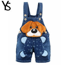 Load image into Gallery viewer, 1 2 3T Baby Clothing Boys Girls Jeans Overalls Shorts Toddler Infant Denim Rompers Cute Cartoon Bebe Pants Summer Bib Clothes