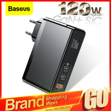 Load image into Gallery viewer, Baseus 120W GaN SiC USB C Charger Quick Charge 4.0 3.0 QC Type C PD Fast USB Charger For Macbook Pro iPad iPhone Samsung Xiaomi