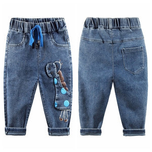Chumhey 0-6T Baby Jeans Girls Jeans Boys Clothes Boys Pants enfant jean Spring Autumn Stretchy Denim trousers Toddler Clothing