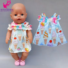 Load image into Gallery viewer, 18 inch american doll jacket vest shirt skirt baby dolls clothes summer jeans dress