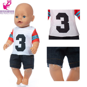 43cm Baby Doll clothes hoody shirt vest dress 18 inch girl doll clothes jeans pants set baby girl birthday gift