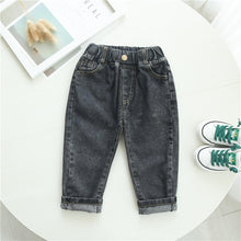 Load image into Gallery viewer, Autumn Spring Baby Boys Jeans Pants Kids Clothes Cotton Casual Children Trousers Denim Boys Clothes 2-6Year Blue and Beige