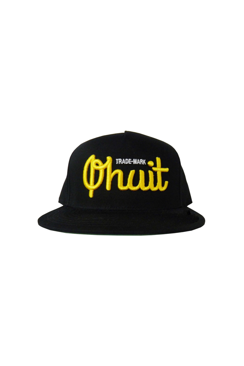 LOGO, snap black & yellow - QHUIT Streetwear