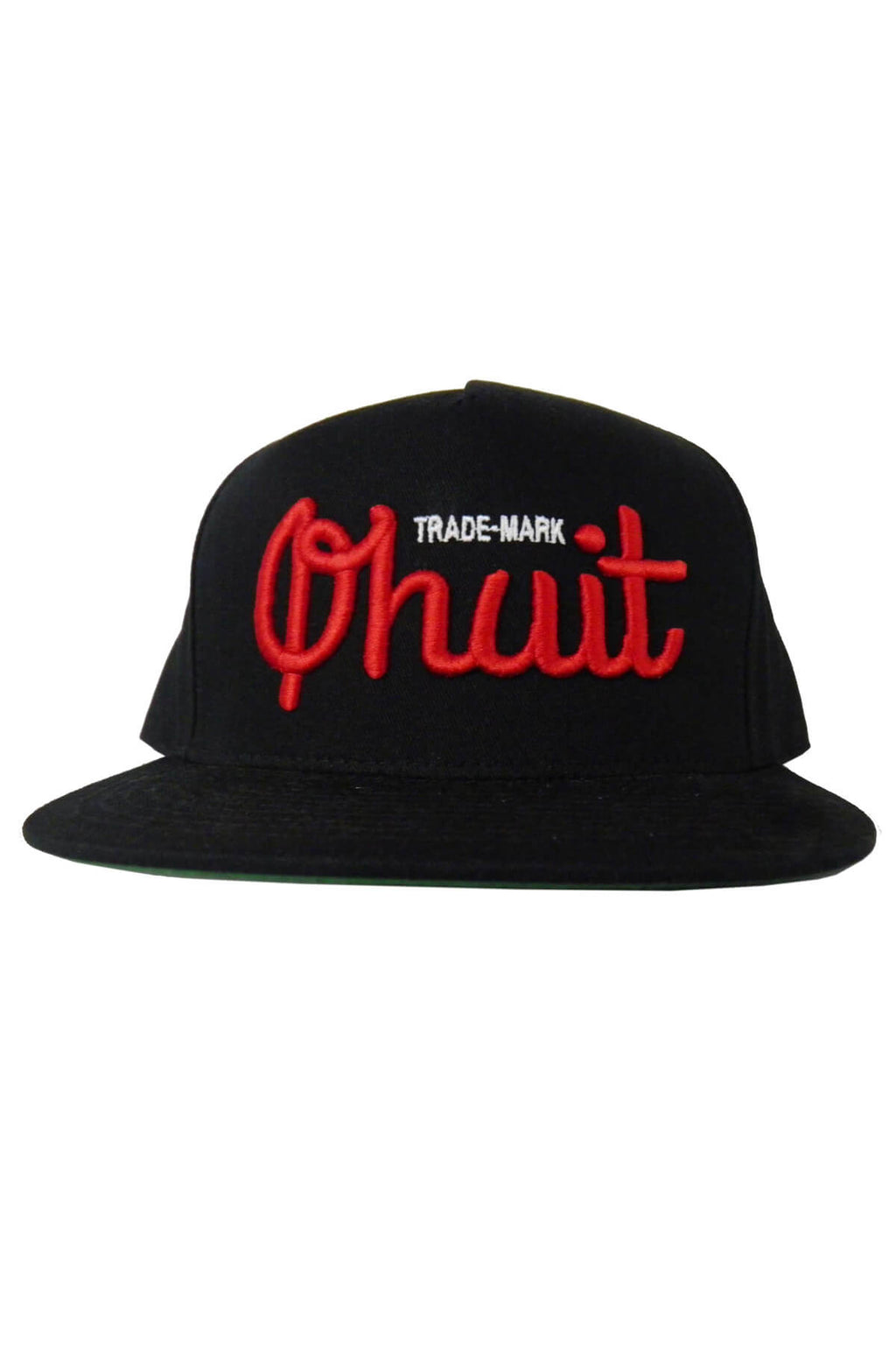 LOGO, snap black & red - QHUIT Streetwear
