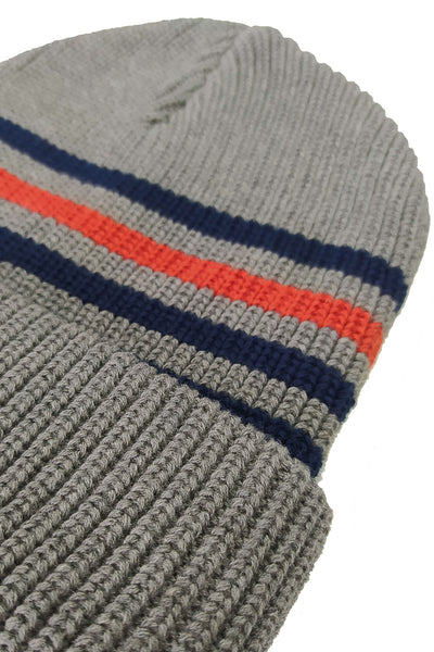SMALL STRIPES, beanie grey