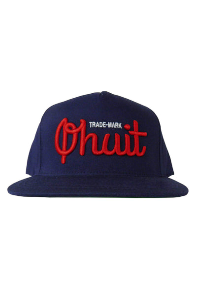 LOGO, snap navy & red - QHUIT Streetwear