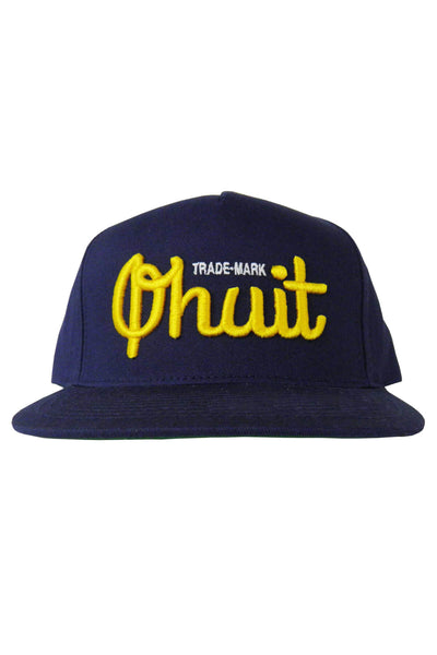 LOGO, snap navy & yellow - QHUIT Streetwear