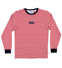 STRIPES, L/S T-shirt red