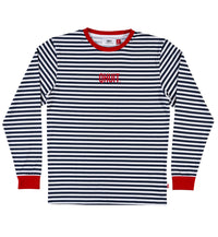 STRIPES, L/S T-shirt blue