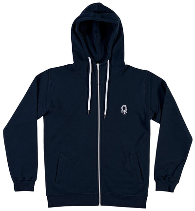 JOGGING, zipper navy - QHUIT Streetwear
