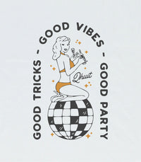 GOOD VIBES, T-Shirt white & orange