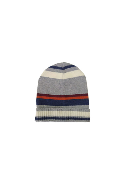 BIG STRIPES, beanie grey