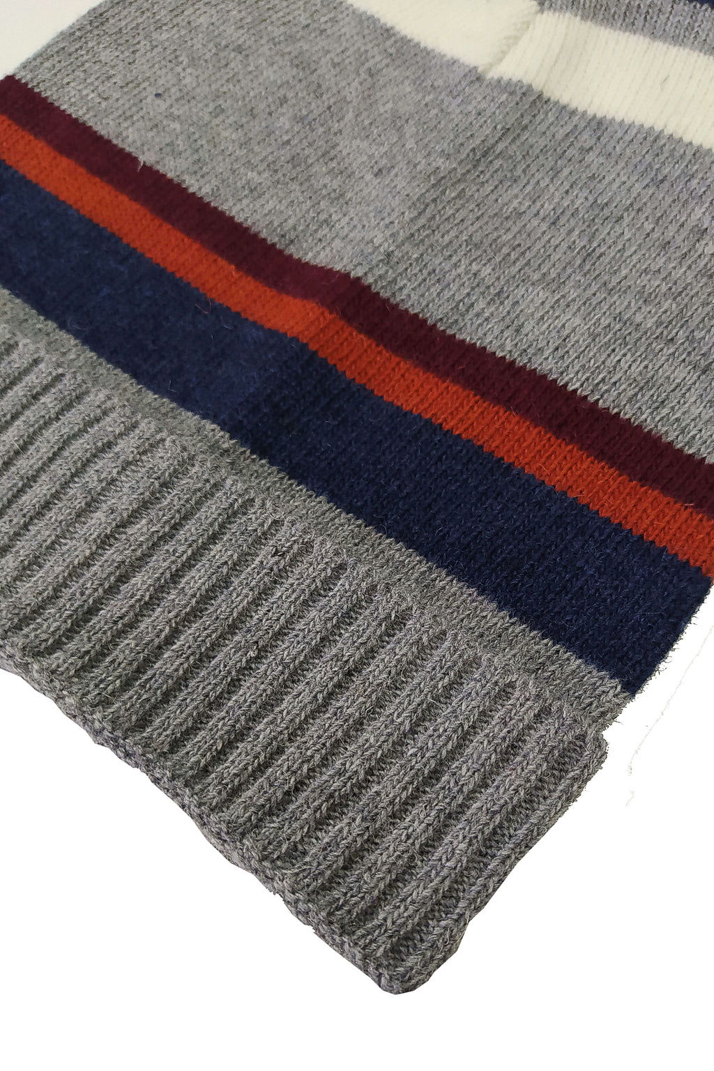 FOUR STRIPES, beanie grey