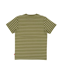 STAMP, Stripes, Pocket T-shirt kaki