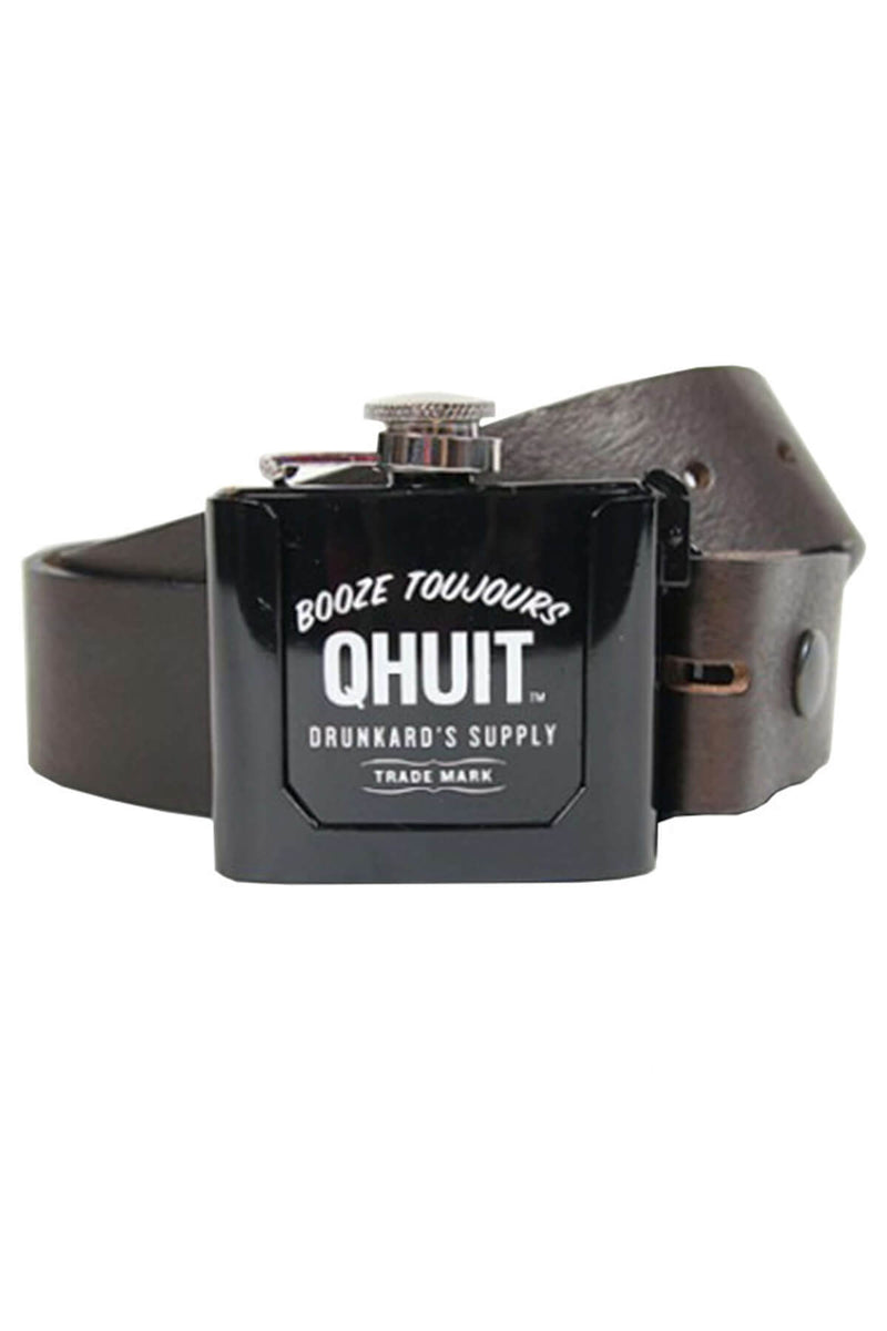 FLASK, belt black - QHUIT Streetwear