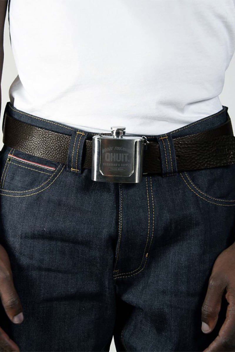 FLASK, belt brown - QHUIT Streetwear